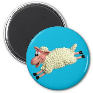 Alberne Schafe Runder Magnet 5,7 Cm
