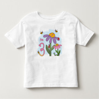 Alberner Garten-3. Geburtstag Kleinkind T-shirt