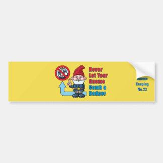 Alberner Gnome und Dachs Autoaufkleber