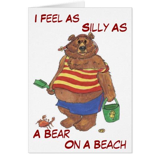 Alberner Strand-Bär Grußkarte