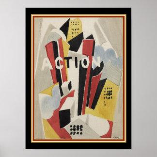 """Albert Gleizes, """"Aktion"""" 1920 drucken 12x16 Poster"""