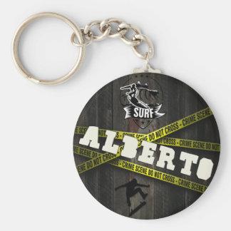 ALBERTO - Skater Style Standard Runder Schlüsselanhänger