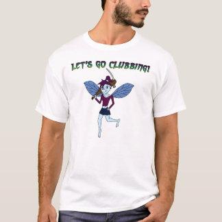 Albtraum-Fee geht mit einer Keule zu schlagen T-Shirt