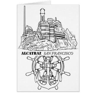 Alcatraz Rad und Anker Karte
