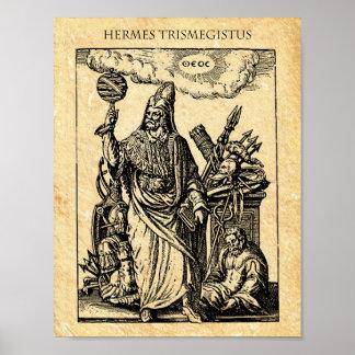 ALCHIMIE HERMES TRISMEGISTUS POSTER