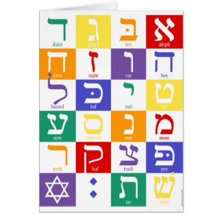 Aleph-Wette (hebräisches Alphabet) - Regenbogen Karte