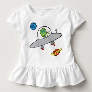 Alex das alien - Kleinkind-Rüsche-T-Stück Kleinkind T-shirt