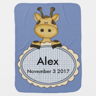 Alex personalisierte Giraffe Puckdecke