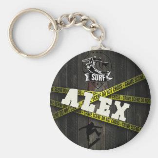 ALEX - Skater Style Standard Runder Schlüsselanhänger