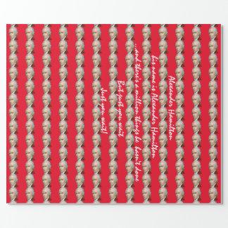 Alexander Hamilton-Rot-Packpapier Geschenkpapierrolle