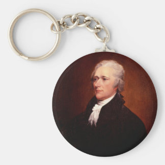 Alexander Hamilton Standard Runder Schlüsselanhänger