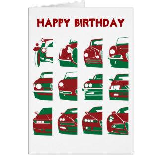 Alfa Romeo - Geburtstags-Karte Grußkarte