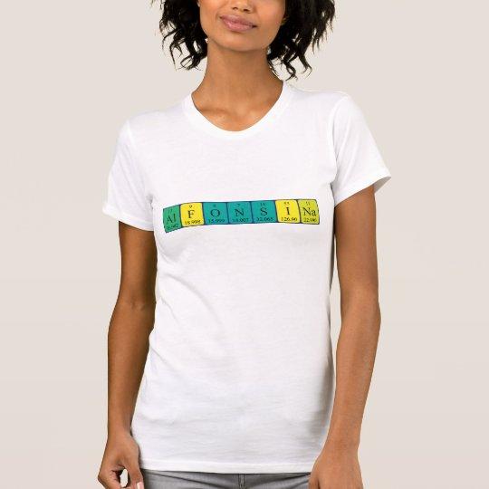 Alfonsina Namen-Shirt periodischer Tabelle T-Shirt