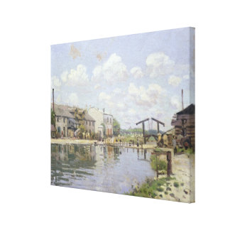 Alfred Sisley | der Kanal St Martin, Paris Leinwanddruck