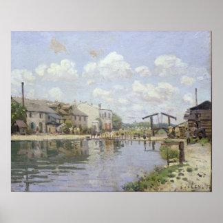 Alfred Sisley | der Kanal St Martin, Paris Poster
