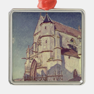 Alfred Sisley | die Kirche bei Moret Silbernes Ornament