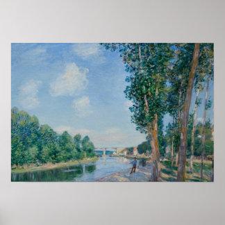 Alfred Sisley - Heiliges-Mammes. Juni-Sonnenschein Poster