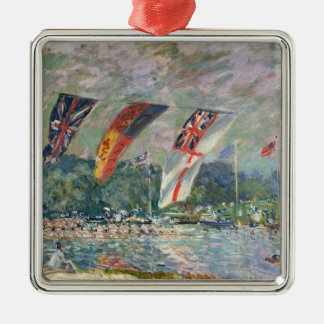 Alfred Sisley | Regatta bei Molesey Silbernes Ornament