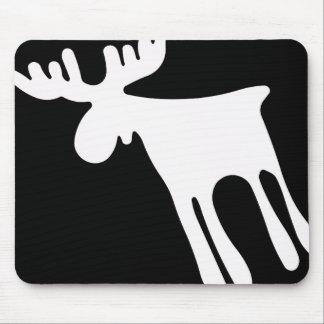 Älg / Moose, vit Mousepad