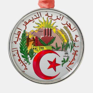 Algerien Rundes Silberfarbenes Ornament