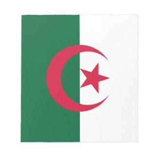Algerische Flagge Notizblock