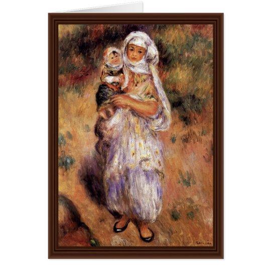 Algerische Frau mit Kind durch Pierre-Auguste Grußkarte