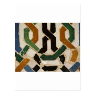 Alhambra-Wand-Fliese #2 Postkarte