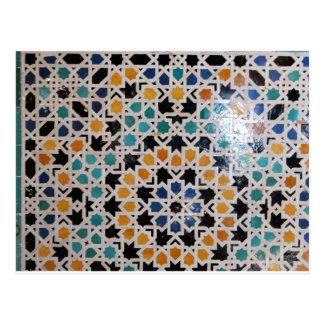 Alhambra-Wand-Fliese #9 Postkarte