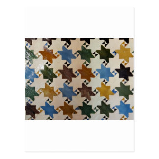 Alhambra-Wand Tile#5 Postkarte