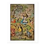 Alice dans la couverture du pays des merveilles cartes postales