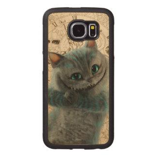 Alice durch das Katzen-Grinsen des Spiegel-| Handyhülle Aus Holz