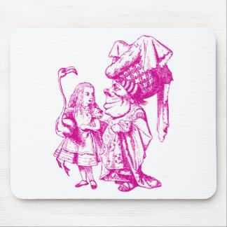 Alice et la duchesse Inked Pink Tapis De Souris