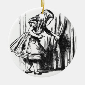 Alice findet eine Tür Keramik Ornament