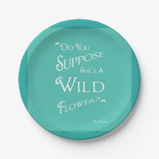 Alice im Wunderland - Aqua-Teller - wilde Blume Pappteller