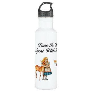 Alice im Wunderland besser mit Freunden Edelstahlflasche