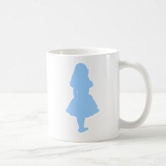 Alice im Wunderland-Blau Kaffeetasse