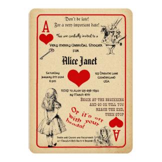 Alice im Wunderland-Brautparty-Einladung Einladung