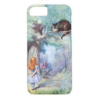 Alice im Wunderland-Cheshire-Katze iPhone 7 Fall iPhone 8/7 Hülle