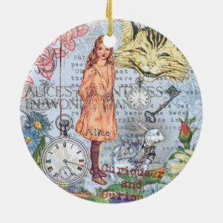 Alice im Wunderland-Cheshire-Katze Keramik Ornament