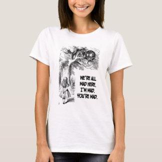 Alice im Wunderland-Cheshire-Katzen-Einzelteile T-Shirt