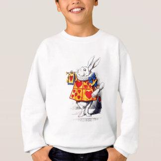 Alice im Wunderland das weiße Kaninchen durch Sweatshirt