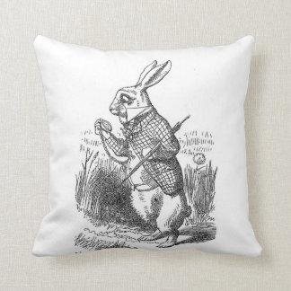 Alice im Wunderland das weiße Kaninchen Vintag Kissen