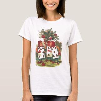 Alice im Wunderland - die Rosen rot malend! T-Shirt