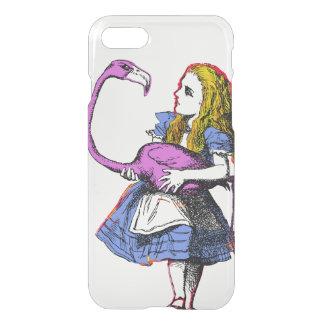 Alice im Wunderland + Flamingo-Krokett iPhone 8/7 Hülle