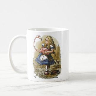 Alice im Wunderland-Flamingo-Tasse Kaffeetasse