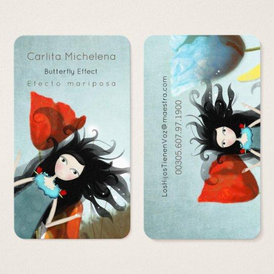 Alice im Wunderland-Geschäfts-Karten Visitenkarte