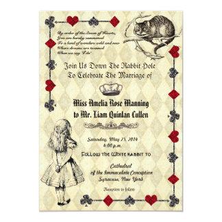 Alice im Wunderland-Hochzeits-Einladung Einladung