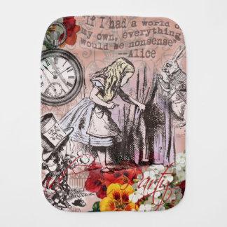 Alice im Wunderland-Hutmacher und Kaninchen Spucktuch