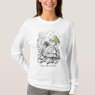 Alice im Wunderland-Kartenstapeles T - Shirt