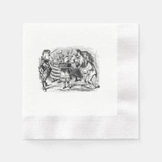 Alice im Wunderland Löwe und die Unicornserviette Papierservietten